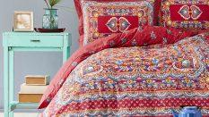 Karaca Home Mihver Pano Kırmızı Pamuk Çift Kişilik Nevresim Takımı